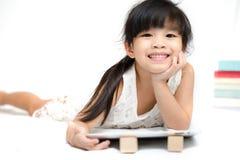 Niños de Asia del retrato que sienten felices Fotos de archivo libres de regalías