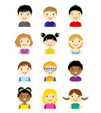 Niños de Avatar fijados stock de ilustración