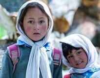 Niños de Balti en Ladakh, la India Fotografía de archivo