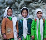 Niños de Balti en Ladakh, la India Foto de archivo libre de regalías