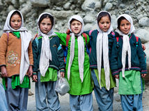 Niños de Balti en Ladakh, la India Foto de archivo