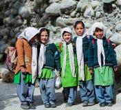 Niños de Balti en Ladakh, la India Fotografía de archivo libre de regalías