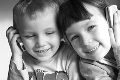 Niños de Colling Fotos de archivo libres de regalías