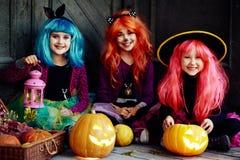 Niños de Halloween Imágenes de archivo libres de regalías
