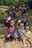 Niños de Hmong en Laos Foto de archivo