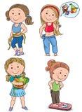 Niños de la dieta Imágenes de archivo libres de regalías