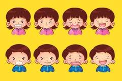 Niños de la emoción stock de ilustración