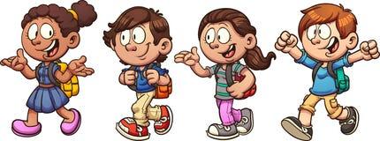 Niños de la escuela libre illustration