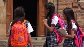 Niños de la escuela que llevan los uniformes escolares Fotografía de archivo libre de regalías