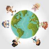 Niños de la historieta Imagen de archivo libre de regalías