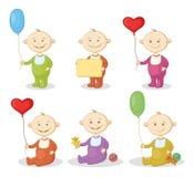 Niños de la historieta con los juguetes Imagen de archivo