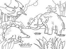 Niños de la historieta que colorean el ejemplo del vector Fotografía de archivo