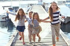 Niños de la moda Imagenes de archivo