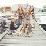 Niños de la moda Foto de archivo