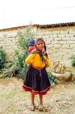 Niños de la montaña de Perú imagen de archivo