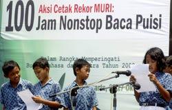 NIÑOS DE LA POBLACIÓN DE INDONESIA Foto de archivo libre de regalías