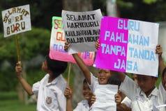NIÑOS DE LA POBLACIÓN DE INDONESIA Imagen de archivo
