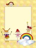 Niños de la tarjeta Imagen de archivo
