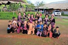 Niños de la tribu de la colina Imagen de archivo libre de regalías