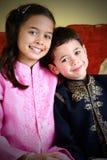 Niños de la unión de la mezcla Imagen de archivo libre de regalías