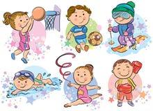 Niños de los deportes Imagen de archivo