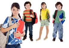 Niños de los estudiantes de Lovables Foto de archivo libre de regalías