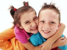 Niños de los pares. Foto de archivo