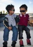 Niños de moda Foto de archivo libre de regalías