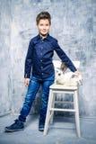 Niños de moda Imagen de archivo libre de regalías