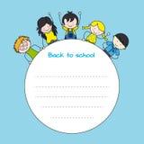 Niños de nuevo a escuela Foto de archivo