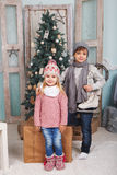 Niños del Año Nuevo Imagenes de archivo