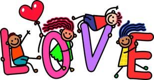Niños del amor stock de ilustración