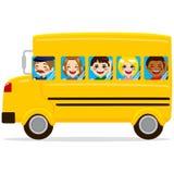 Niños del autobús escolar Fotos de archivo