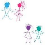 Niños del baile Imagen de archivo libre de regalías
