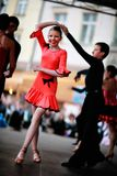 Niños del baile en etapa Imágenes de archivo libres de regalías