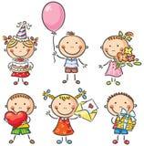 Niños del cumpleaños libre illustration