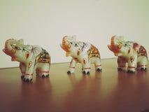 Niños del elefante Fotografía de archivo