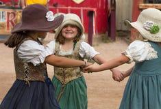 Niños del festival del renacimiento de Arizona Foto de archivo