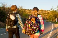 Niños del fugitivo Fotografía de archivo libre de regalías
