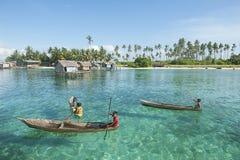 Niños del gitano del mar de Borneo Imágenes de archivo libres de regalías