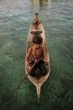 Niños del laut de Bajau fotografía de archivo