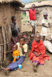 Niños del Masai Imagen de archivo libre de regalías