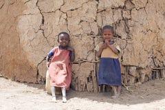 Niños del Masai Imagen de archivo