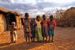 Niños del Masai Fotos de archivo libres de regalías