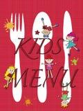 Niños del menú Imágenes de archivo libres de regalías