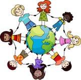 Niños del mundo stock de ilustración