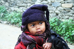 Niños del Nepali fotos de archivo