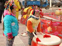 Niños del pueblo de montaña Imagen de archivo libre de regalías