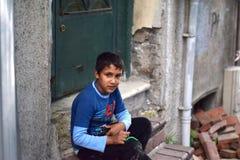 Niños del refugiado en la Turquía imagen de archivo
