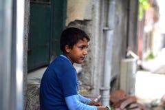 Niños del refugiado en la Turquía fotografía de archivo